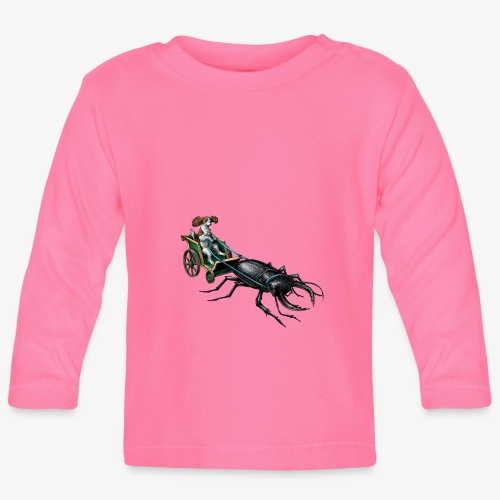 King Charles Spaniel with Stag beetle steed - Baby Long Sleeve T-Shirt