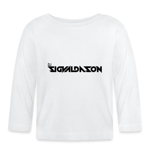 DJ logo sort - Langærmet babyshirt