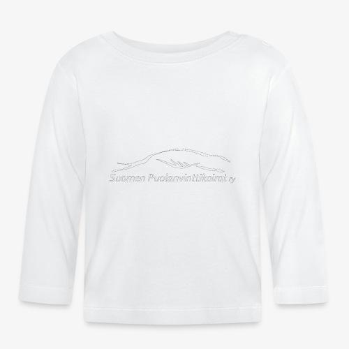 SUP logo valkea - Vauvan pitkähihainen paita