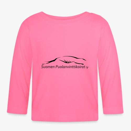 SUP logo musta - Vauvan pitkähihainen paita
