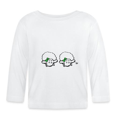 Baby Lamb Twins (verde e verde) - Maglietta a manica lunga per bambini
