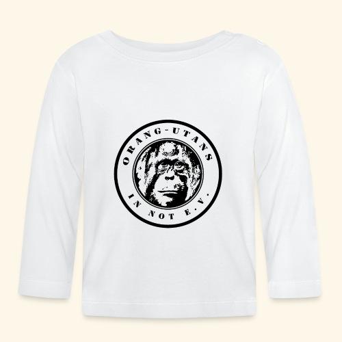Logo Orang-Utans in Not e.V. schwarz - Baby Langarmshirt