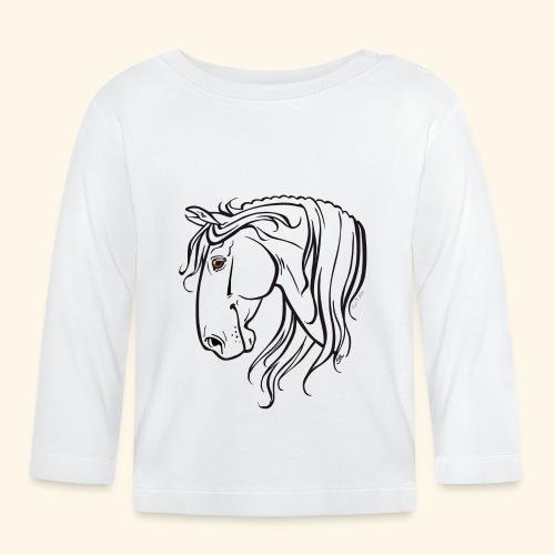 Cheval espagnol (noir) - T-shirt manches longues Bébé