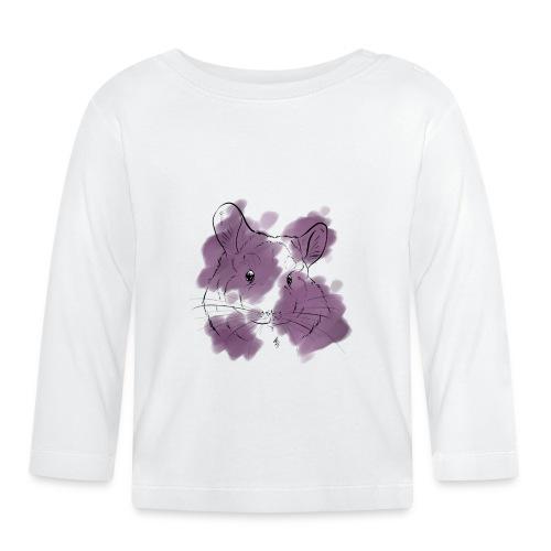 Violet splash chinchilla - Vauvan pitkähihainen paita