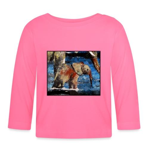 Baby-Elefant - Baby Langarmshirt