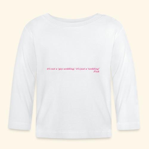 Gay wedding - Koszulka niemowlęca z długim rękawem