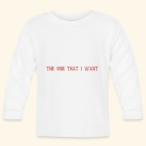 The One That I Want in Rot - Baby Langarmshirt