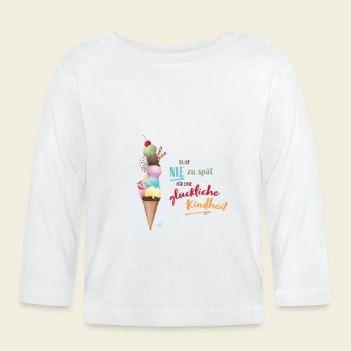 Eis - glückliche Kindheit - Baby Langarmshirt
