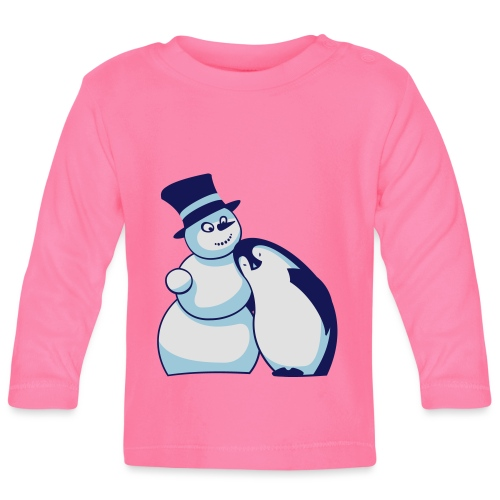 Schneemann und Pinguin - Baby Langarmshirt