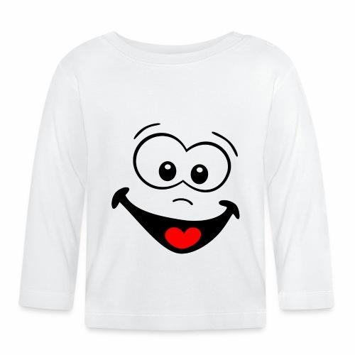 Gesicht lachen - Baby Langarmshirt