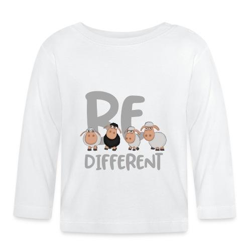 Be different Schafe: Einzigartiges schwarzes Schaf - Baby Langarmshirt