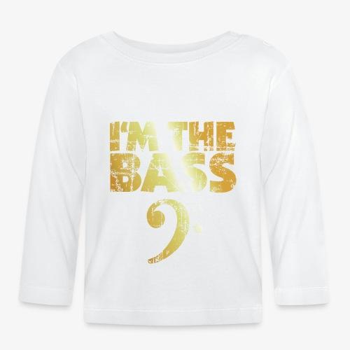 I'm the Bass (Goldgelb) - Baby Langarmshirt