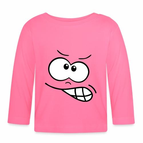 Gesicht wütend - Baby Langarmshirt