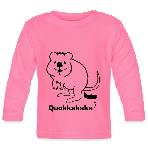 Quokkakaka Quokka Kacka Känguruh Australien - Baby Langarmshirt