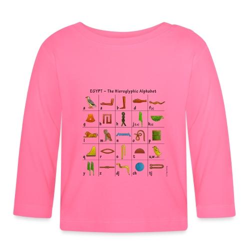 Ägyptisches Alphabet - Baby Langarmshirt