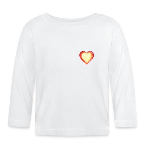 Burning Fire heart - Baby Long Sleeve T-Shirt