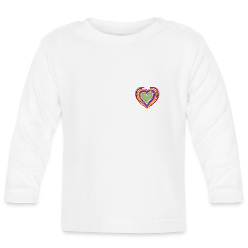 A heart in hearts is pure love on many levels - Baby Long Sleeve T-Shirt