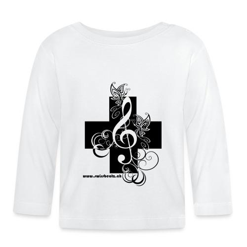 Swiss Beatz Logo non L - Baby Langarmshirt
