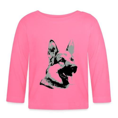 Dessin Chien Berger allemand 2 couleurs - T-shirt manches longues Bébé