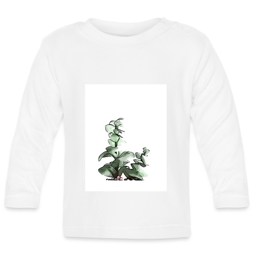 BabyCute 'Cactus Stalk' by Isobel & Kristoff - Baby Long Sleeve T-Shirt