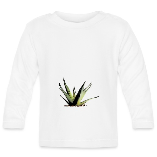 BabyCute 'Cactus Earth Green' by Isobel & Kristoff - Baby Long Sleeve T-Shirt