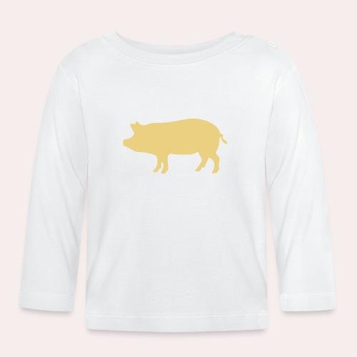 Nunca comas más de lo que puedas levantar - Camiseta manga larga bebé