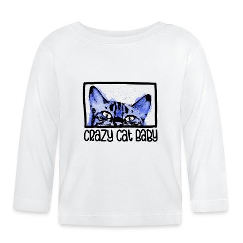 Crazy Cat Baby Boy - Baby Langarmshirt