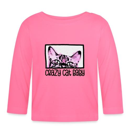 Crazy Cat Baby Girl - Baby Langarmshirt