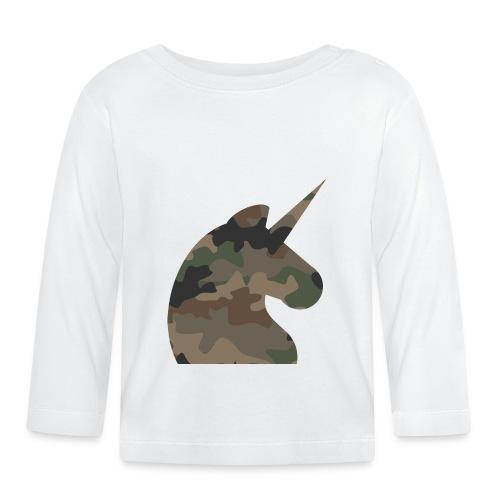 Einhorn T Shirt Männer Camouflage Army Style - Baby Langarmshirt