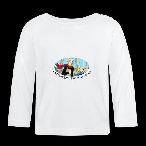 Fatherhood Badly Doodled - Baby Long Sleeve T-Shirt