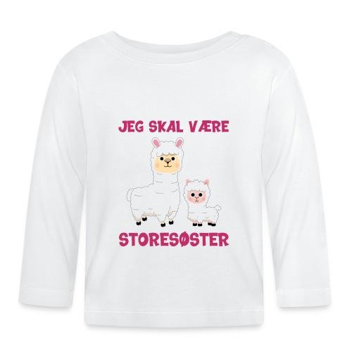 Jeg skal være storesøster alpaca gave fødsel - Langærmet babyshirt