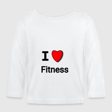 Kocham fitness, I ❤ Fitness - Koszulka niemowlęca z długim rękawem
