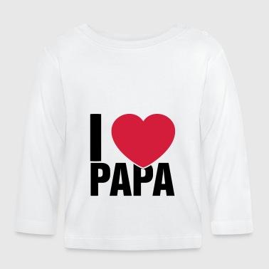 Io amo papà - Maglietta a manica lunga per bambini