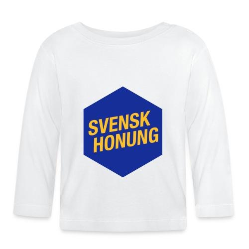 Svensk honung Hexagon Blå/Gul - Långärmad T-shirt baby