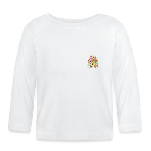 Baby-Blumen-Shirt - Baby Langarmshirt
