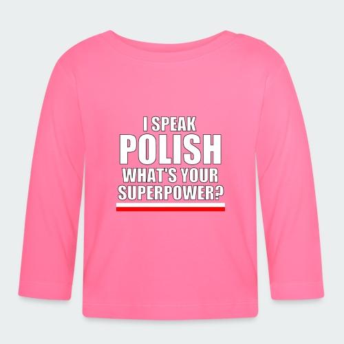 Damska Koszulka Premium I SPEAK POLISH - Koszulka niemowlęca z długim rękawem