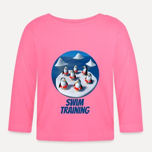 Pinguine beim Schwimmunterricht - Baby Long Sleeve T-Shirt