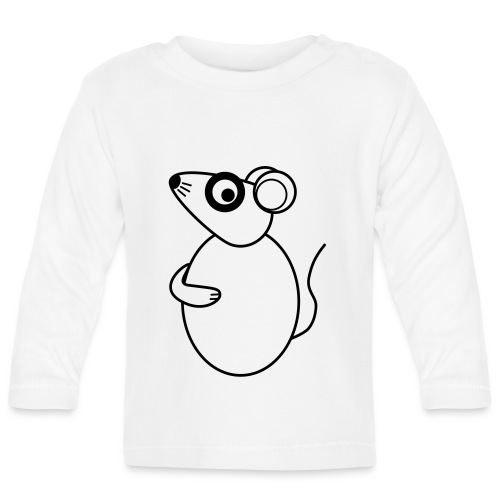 Rat - not Cool - sw - Baby Langarmshirt