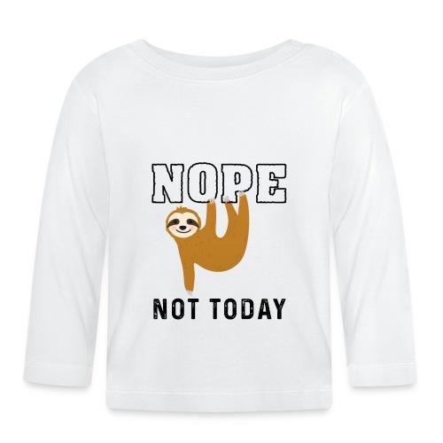 Funny Sloth Quotes - Baby Langarmshirt