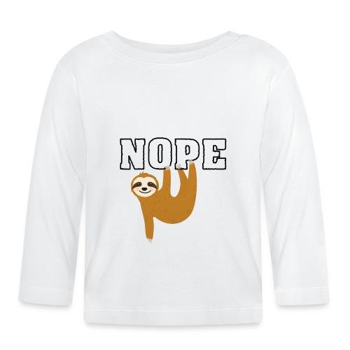 Nope Funny Sloth Fan - Baby Langarmshirt