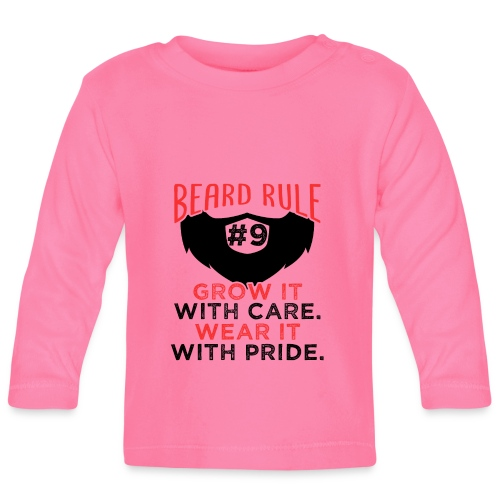 Beard Rule #9 - Baby Langarmshirt