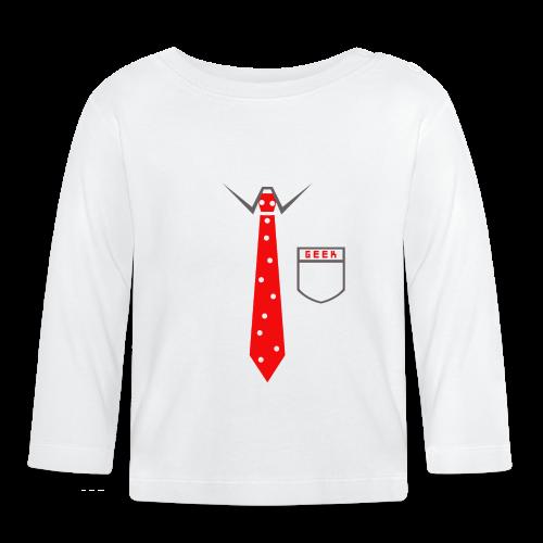 Geek | Schlips Krawatte Wissenschaft Streber - Baby Langarmshirt