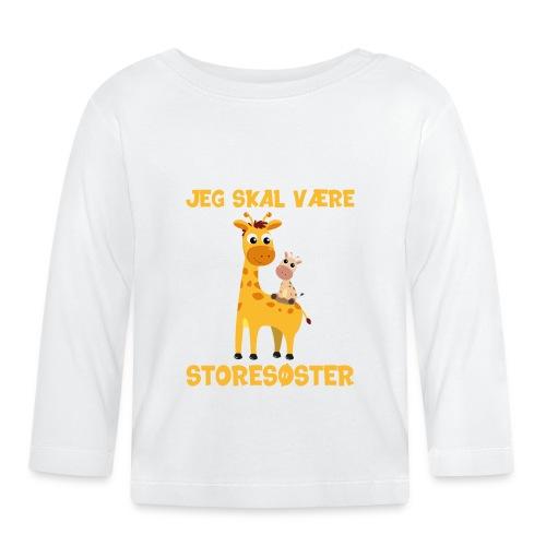 Jeg skal være storesøster - giraf giraffer - Langærmet babyshirt