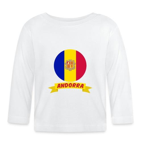 flag of andorra t shirt design banner ribbon - Maglietta a manica lunga per bambini