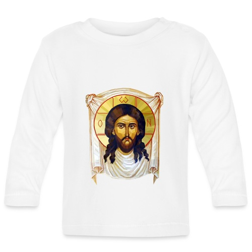 Low-Poly Jesus Icon - Baby Long Sleeve T-Shirt