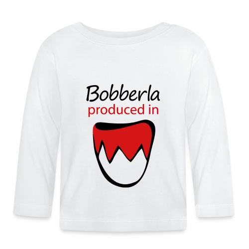 1 bobberla weiss - Baby Langarmshirt
