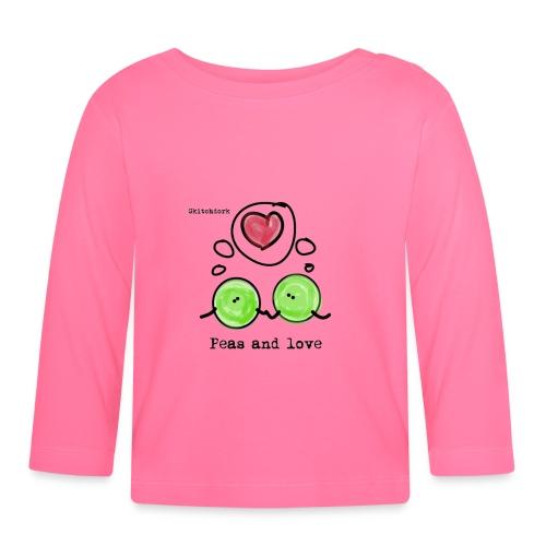 Peas and love with logo Transparent - Langarmet baby-T-skjorte