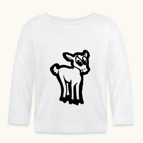 Comic Lämmchen Lustig Geschenkidee Unschuldslamm - T-shirt manches longues Bébé