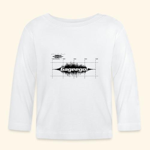Gageego logga vit text - Långärmad T-shirt baby