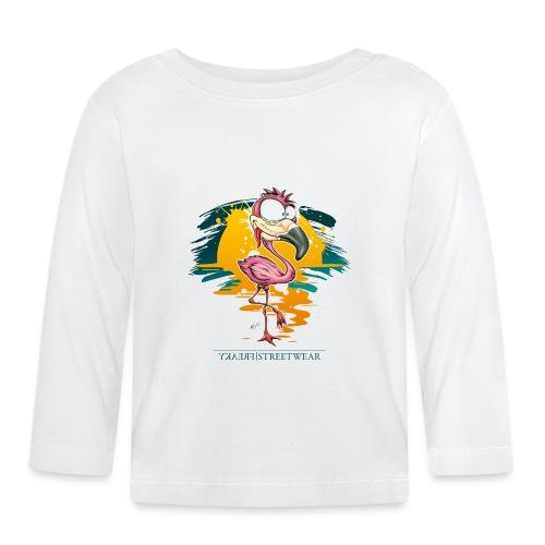 Flamingo Weirdo - Baby Langarmshirt